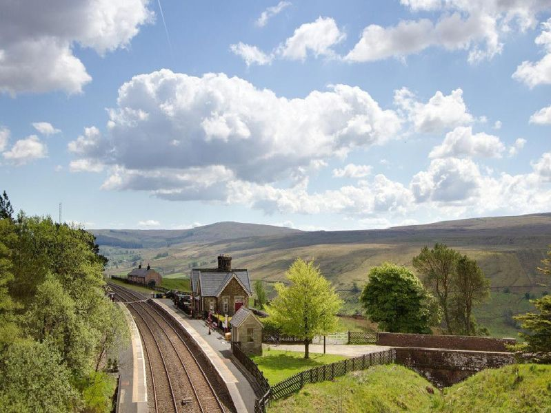 The Grade II listed Dent Station building is close to the village of Cowgill and has glorious views.