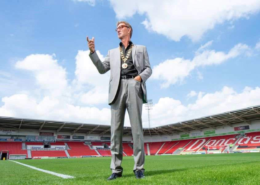 Stepping in: Tony Adams, at Doncaster's Keepmoat Stadium, has taken on the role of president of the RFL. Picture: Allan McKenzie/SWpix