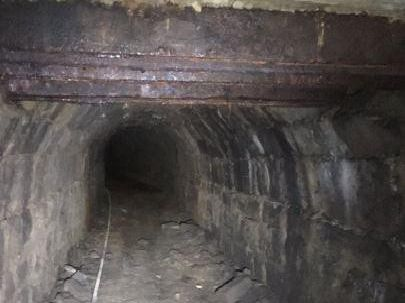 The sulphur well tunnel system beneath Crescent Gardens today