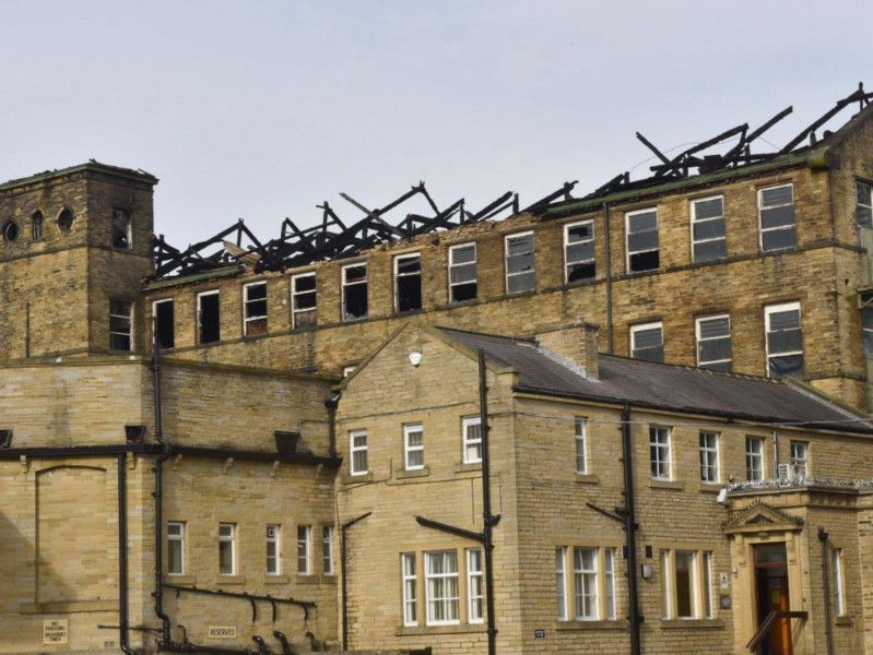 New photos show extent of devastation at huge Bradford mill fire thumbnail