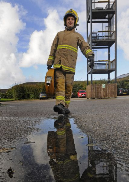 PICTURES: Firefighters tough it out in new drill - Blackpool