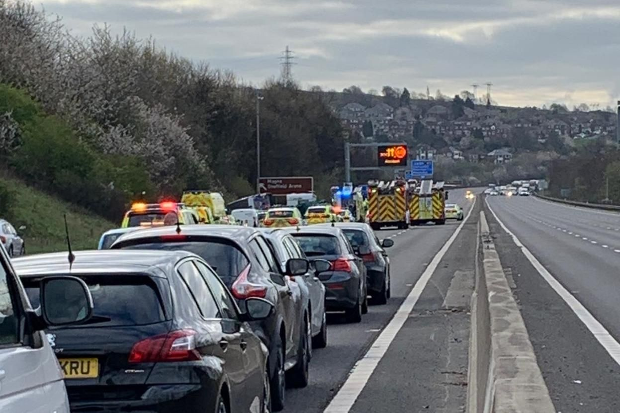 M1 crash: Wreckage of truck recovered following fatal accident near