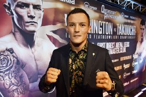 Josh Warrington at The Carriagewrorks, Leeds, ahead of his IBF world featherweight title fight with Frenchman Sofiane Takoucht. PIC: Steve Riding