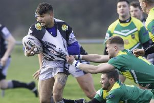 Former Dewsbury Rams player Brad Delaney scored two tries in Mirfield Stags 38-16 BARLA Yorkshire Cup semi-final victory over Doncaster Toll Bar.