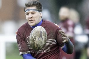 Casey Johnson was Thornhill's man-of-the-match as they sent Thatto Heath Crusaders crashing out of the Coral Challenge Cup last Saturday. Picture: Allan McKenzie.