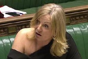 Tracy Brabin raising the point of order in the Commons. Photo: Parliament TV