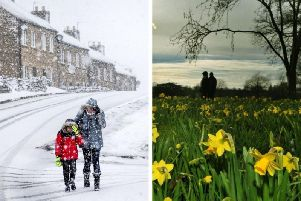 The Easter weekend looks set to be one of wind, rain, sleet and snow across Yorkshire.