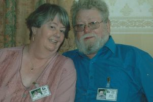 Jan Pickles with her husband, Geoff