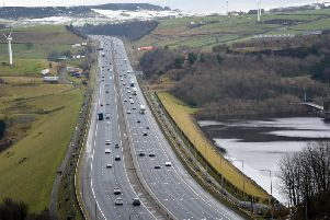 Motorists are being warned about congestion on this stretch of the M62