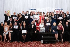 Last Year's Winners: Celebrating success at the MyMirfield Awards evening.