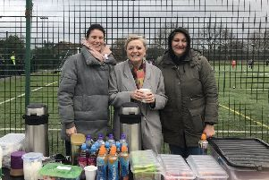 Pledge: MP Tracy Brabin with Emma Armitage and Nicola Orman at the Howden Clough club.