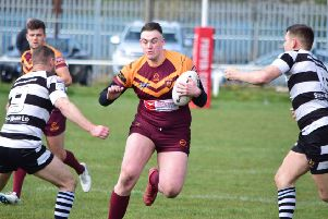 George Gavaghan in action for Dewsbury Moor against Wigan St Pats last Saturday. Picture: Stevan Morton