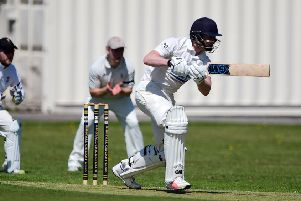 Josh Haynes claimed 3-23 and then struck an unbeaten 70 to steer Birstall to a comfortable victory over Gildersome as they booked a place in the Jack Hampshire Cup quarter-finals last Sunday. Picture: Paul Butterfield