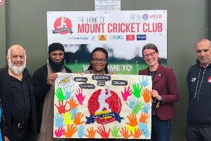 Some of the team behind the summer camp at Mount Cricket Club