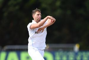 Matt Critchley was one of three players to take three wickets in the innings.