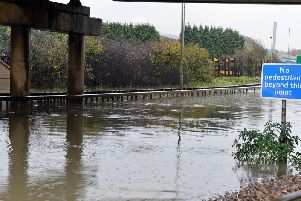 Flooding at Horns Bridge, Chesterfield.