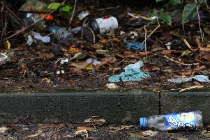 Shameful amounts of litter dumped in town
