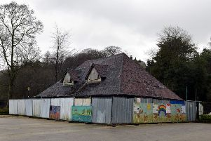 The old tearooms at Belper River Gardens have stood derelict for many years.