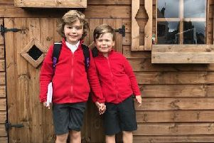 Ambergate resident Delicia Tunnicliffe has launched a campaign for a pedestrian crossing in the village, partly so that sons Edward and Albie can cross the A6 safely to enjoy school PE lessons.