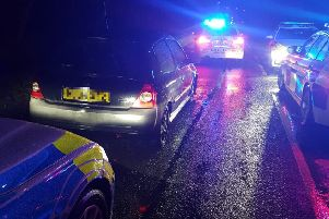 The driver of this vehicle was stopped in Denby overnight by the Derbyshire Roads Policing Unit, they were wanted in connection with incidents of theft and criminal damage.