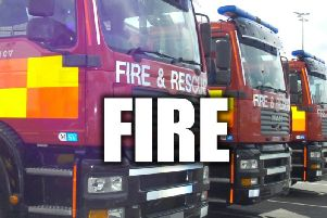 Firefighters tackled a kitchen fire in Belper on Wednesday evening