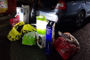 Goods were seized