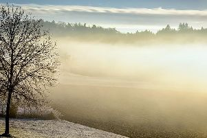 The Met Office has issued a warning for freezing fog and ice in Derbyshire tonight