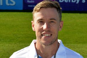 Derbyshire County Cricket Club, pictured is Logan Van Beek