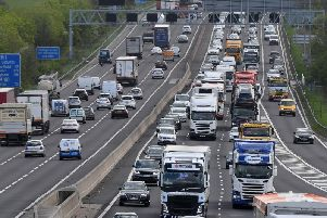 One lane closed on M1