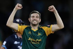 Harry Gurney took career best T20 figures in Nottinghamshire's win.