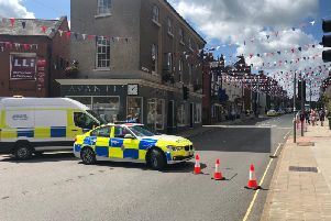 The scene of the collision in Ashbourne. Picture by Derbyshire Roads Police.