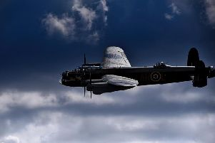The Avro Lancaster bomber from the RAF Battle of Britain Memorial Flight is scheduled to make a flypast over Ilkeston'sMarket Place on Sunday.