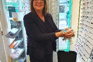 Sharon Hibbert contact lens supervisor.