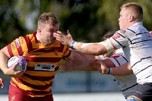 Captain Adam Lewis led an outstanding Fylde front row at Wharfedale