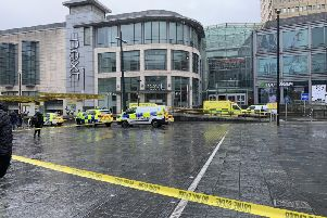 A man has been arrested and detained under the Mental Health Act after five people were injured in a knife attack at the Arndale Centre in Manchester.