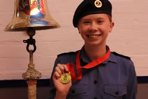 Amelia Morris won first place in the national sea cadets first aid competition.