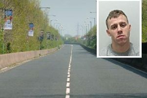 Richard Mullen, 28, was jailed at Preston Crown Court after stealing a woman's car and driving off towards Yeadon Way before crashing into another car, injuring the driver.