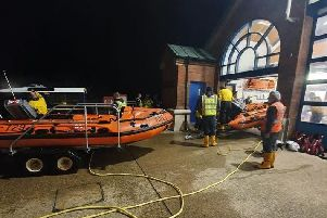 RNLI volunteers in Blackpool were called out at 4am this morning (October 16) to rescue a person spotted in the sea near North Pier