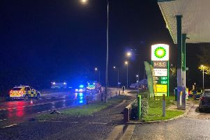 The scene of the crash at Churchtown - Credit: LANCS ROAD POLICE