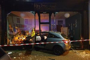 The crash at Mary, Tom and Friends - Credit - Fleetwood Police