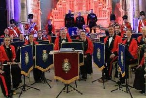 The band of the Royal Regiment of Fusilliers Lancashire