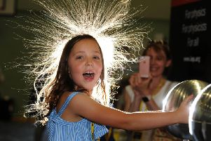 More needs to be done to encourage girls to consider careers in science and engineering. Here Frida Hargreaves finds out about static electricity at the Lancashire Science Festival at UCLan