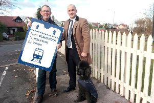Paul Maynard and Jake Berry campaigning for the Fylde coast tram loop