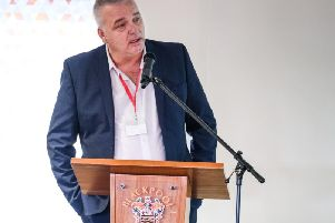 Former England and Blackpool footballer Paul Stewart gave a key speech at the first International Men's Day conference at Bloomfield Road whihc focussed on mental health issues