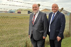 Peter Maughan and James Grundill of PMR Solicitors which has moved to the Blackpool Airport Enterprise Zone