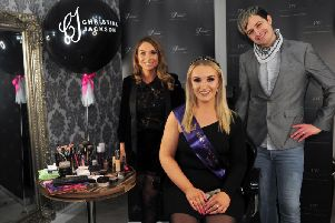 Christina Jackson with Miss Lancashire Eden Kippax and Andrew Williams. Photo by Donna Clifford