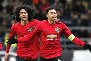 Jess Lingard (right) ended a 10-month goal drought against Astana