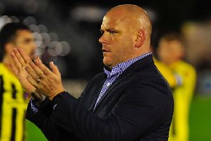 AFC Fylde boss Jim Bentley has applauded his players for their recent results'                      Picture: Steve McLellan