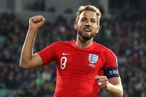 Harry Kane will lead England's attack