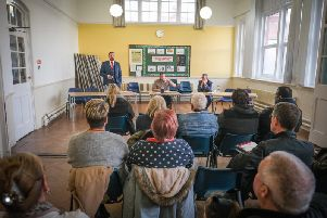 A meeting was held between political candidates Chris Webb and Paul Maynard, and Cleveleys traders.